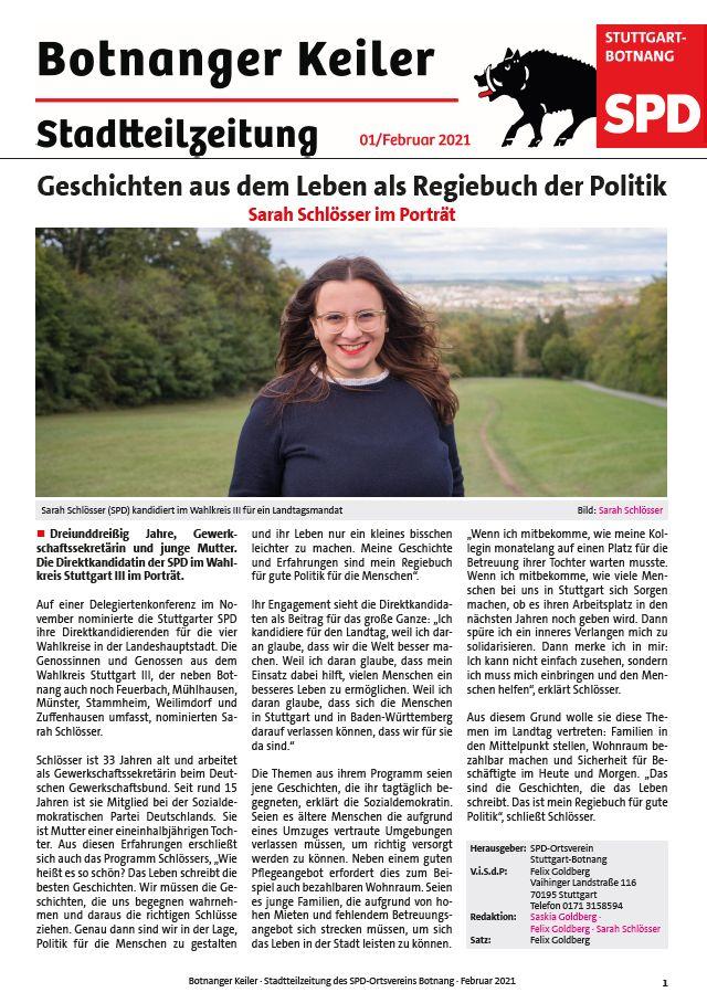 Botnanger Keiler 01/21 Titelseite